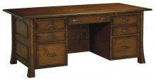 Amish Executive Computer File Desk Solid Wood Home Office Furniture Drawers