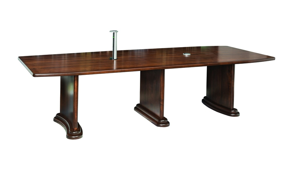 Wood office tables Old Amish Executive Conference Table Indiamart Amish Executive Conference Table W Charging Port Surrey Street Rustic