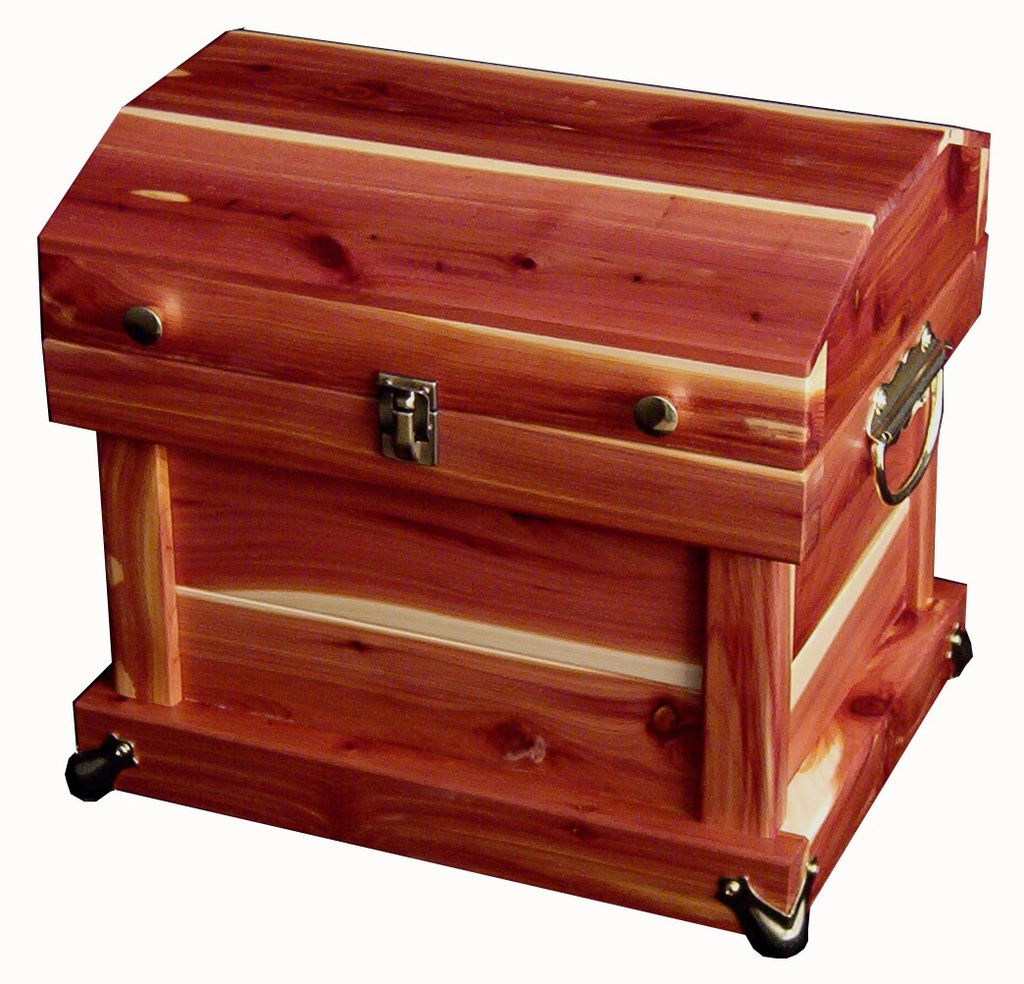 Amish Made Bedroom Furniture Amish Cedar Chest Trunk Solid Dome Top Surrey Street Rustic