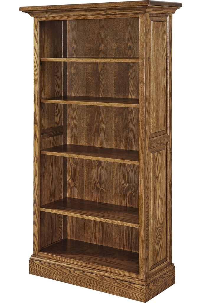 Wood Bookcases Furniture ~ Amish kincade bookcase book shelf surrey street rustic