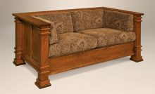 Amish-Mission-Arts-and-Crafts-Loveseat-Upholstered-Solid-Wood-Back-S