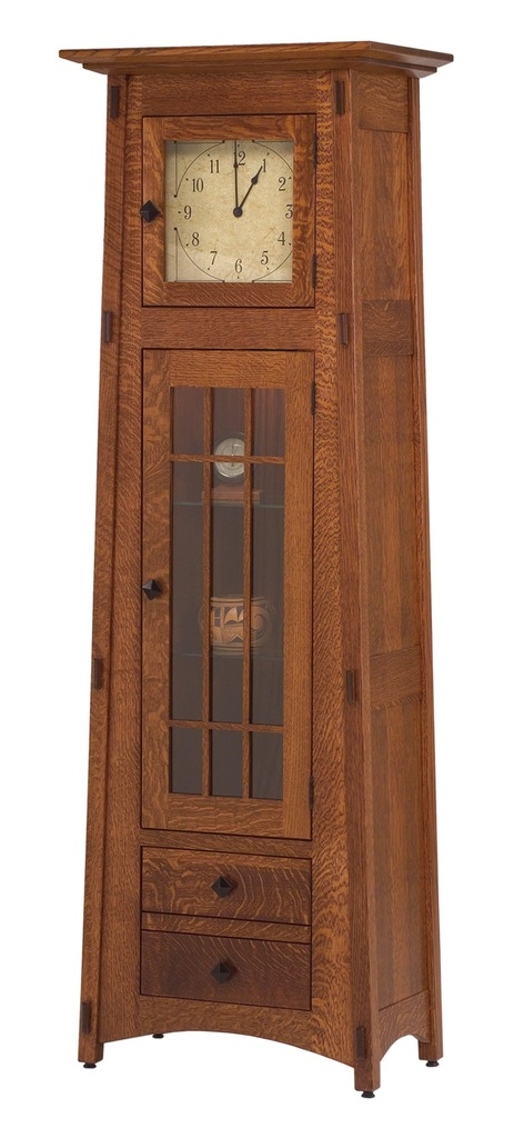 Amish Mission Mccoy Grandfather Clock Surrey Street Rustic