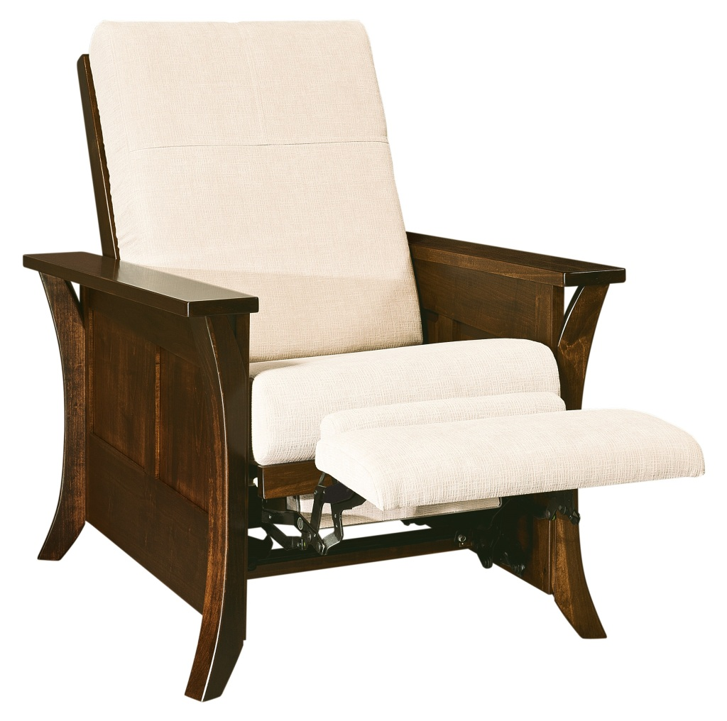 Amish Caledonia Recliner Accent Chair Surrey Street Rustic