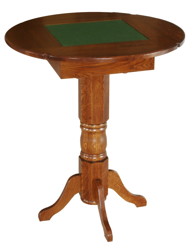 amish game room table pub height checkers chess. Black Bedroom Furniture Sets. Home Design Ideas