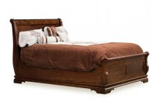 Amish Sleigh Panel Bed Solid Hardwood Bedroom Furniture King Queen Full