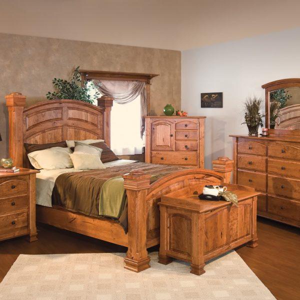 Amish Luxury Rustic Cherry Bedroom Set