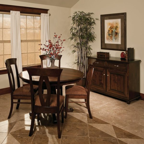 Amish Round Pedestal Dining Table | Surrey Street Rustic