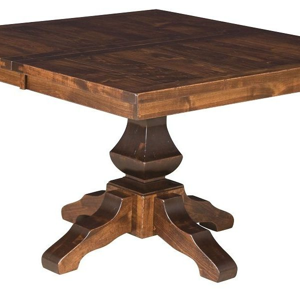 Awesome Amish Rustic Plank Pedestal Dining Table Home Interior And Landscaping Ologienasavecom