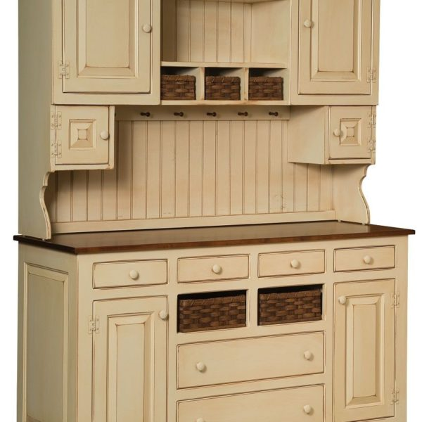Amish Kitchen Cabinets Ohio: Amish Primitive Farmhouse Kitchen Hutch Pine Wood