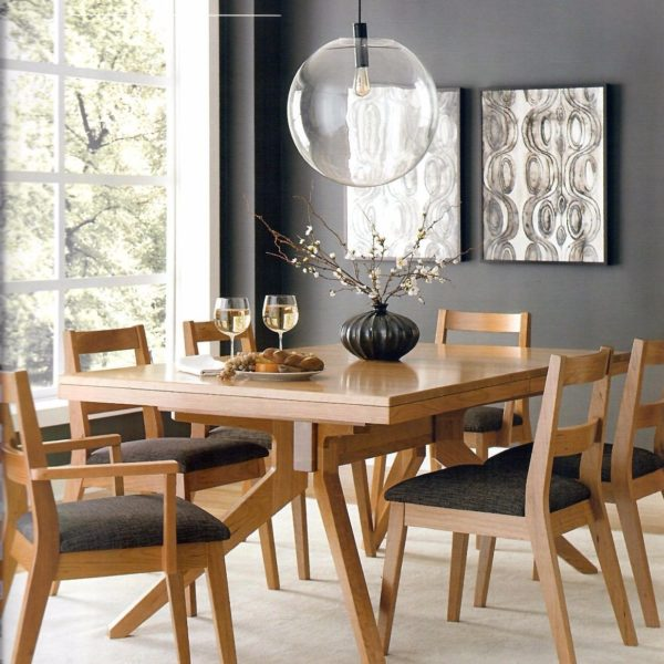 Amish Sonora Modern Trestle Dining Table | Surrey Street Rustic