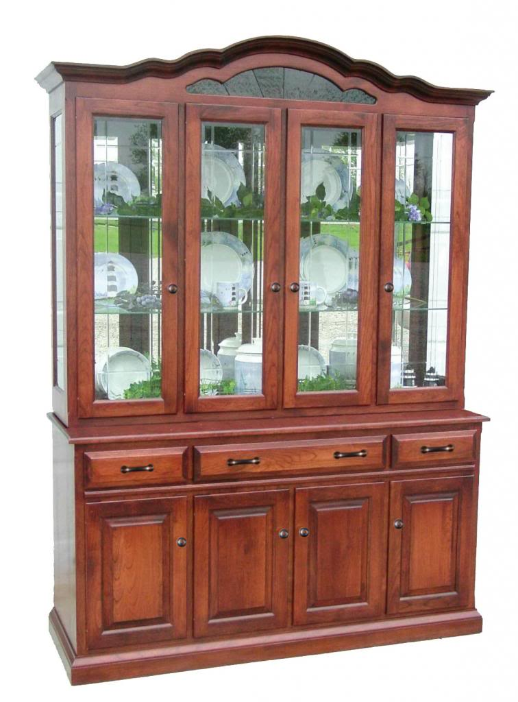 dining room hutches | Amish Dining Room Hutch China Cabinet | Surrey Street Rustic