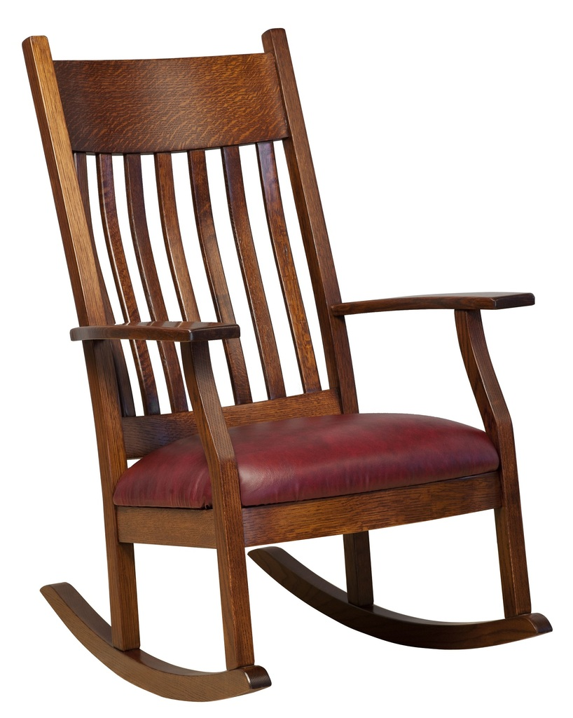 Amish Mission Solid Wood Rocking Chair | Surrey Street Rustic