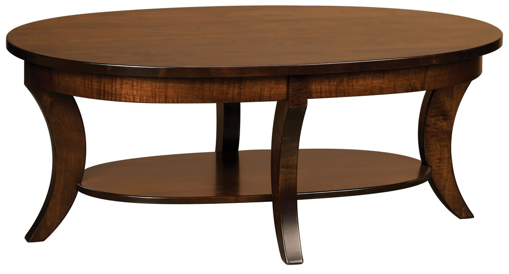 Amish Accent Oval Round Coffee End Table