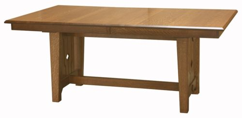 Amish Mission Craftsman Trestle Dining Table